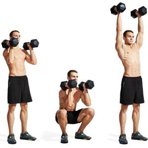 Exercices abdos Squat Press